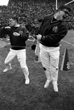 """Notre Dame Cheerleaders Work the Crowd During the 1966 """"Game of the Century"""" Against Michigan State"""