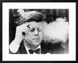President John Kennedy  Smoking a Cigar at a Democratic Fundraiser  Oct 19  1963