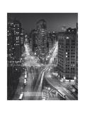 Flat Iron Building, Night 4 - New York City Landmarks Reproduction d'art par Henri Silberman