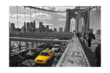 Brooklyn Bridge with Yellow Cab 2 - New York City Icon