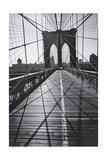 On the Brooklyn Bridge  Shadows - New York City Icon