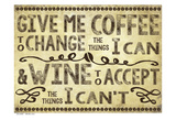 Coffee Life 1 Reproduction d'art par Melody Hogan