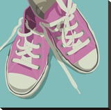 Lowtops (pink on blue)