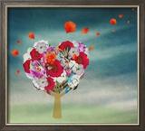 Flower Tree in the Shape of Heart  Valentine