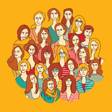 Big Group Women round Color