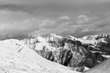 Black and White Snowy Mountains