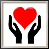 Hands Holding The Heart 1