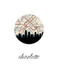 Charlotte Map Skyline