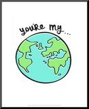 You're My World - Tommy Human Cartoon Print