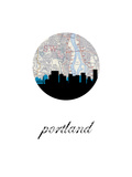 Portland Map Skyline