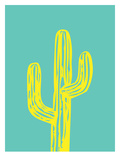 Cactus on Teal
