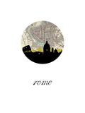 Rome Map Skyline