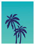 Palm Tree on Teal