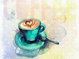 Cup of Coffee Watercolor Illustration