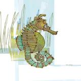 Marsh Seahorse Grass Reproduction d'art par Robbin Rawlings
