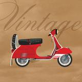 Vintage Vespa Red