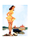 Slip Off Shore Pin-Up 1944 Reproduction d'art par Gil Elvgren