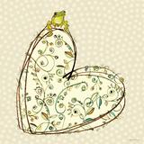 Tree Frog + Heart Reproduction d'art par Robbin Rawlings