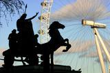 Statue of Boudicca  the London Eye  London