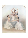 The Celebrated Pas De Quatre: Composed by Jules Perrot  C1850
