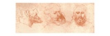 Drawing of Oriental Heads  in Red Chalk  C1472-C1519 (1883)