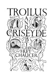 Title Page: Troilus and Criseyde  1927