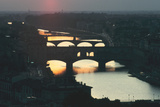 Sunset over the Arno  Florence  Italy