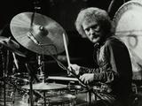 Drummer Ginger Baker Performing at the Forum Theatre  Hatfield  Hertfordshire  1980