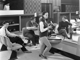 Group of Young People at Silver Blades Bowling Alley  Sheffield  South Yorkshire  1965