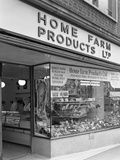 Home Farm Products Ltd Butchers Shop Front  Sheffield  South Yorkshire  1966
