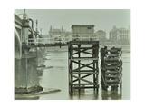 Emergency Water Supply Pump Platform  Westminster Bridge  London  Wwii  1944