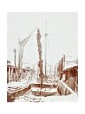 Sailing Barges  Battersea  London  1906