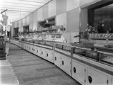New Co-Op Central Butchers Department  Barnsley  South Yorkshire  1957