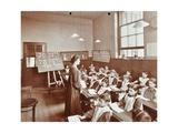 Girls Hebrew Reading Lesson  Jews Free School  Stepney  London  1908