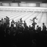 Steelworks Social Evening at a Bowling Alley  Sheffield  South Yorkshire  1964