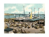 Muelle De Luz Harbour with Ferries  Havana  Cuba  1904