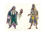 Costume Designs for the Russian Ballet Le Dieu Bleu  C1912