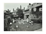 Children and Carers in a Garden  Hampstead  London  1960
