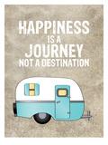 Camper Happiness Is Journey Reproduction d'art par Amy Brinkman