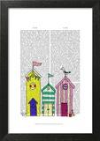Beach Huts 1 Illustration