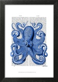 Vintage Blue Octopus 1 Front