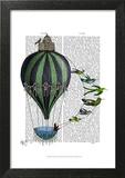 Hot Air Balloon and Birds