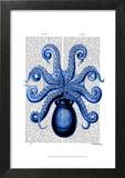 Vintage Blue Octopus 1 Underside