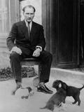 Mustafa Kemal Ataturk  President of Turkey  with His Pet Dogs  Ca 1930
