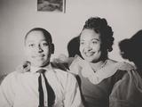 Emmett Till with His Mother  Mamie Bradley  Ca 1950