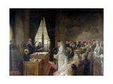Civil Marriage of Son of Mathurin Moreau Mayor of Paris' 19th Arrondissement  1884