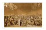 Study for the Tennis Court Oath  June 20  1789