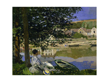 On the Bank of the Seine  Bennecourt  1868