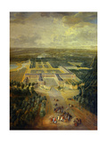 Gardens of Grand Trianon in Versailles Child King Louis XV on Horseback