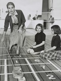 Grace Kelly by Playing Shuffleboard on the Deck of the Uss Constitution  April 10  1956